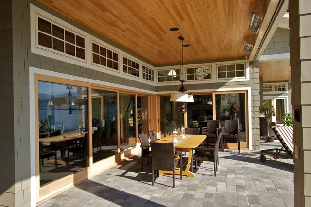 patio with recessed sunscreens