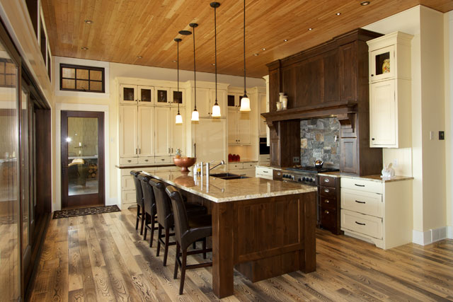 traditional kitchen with 12ft high ceiling