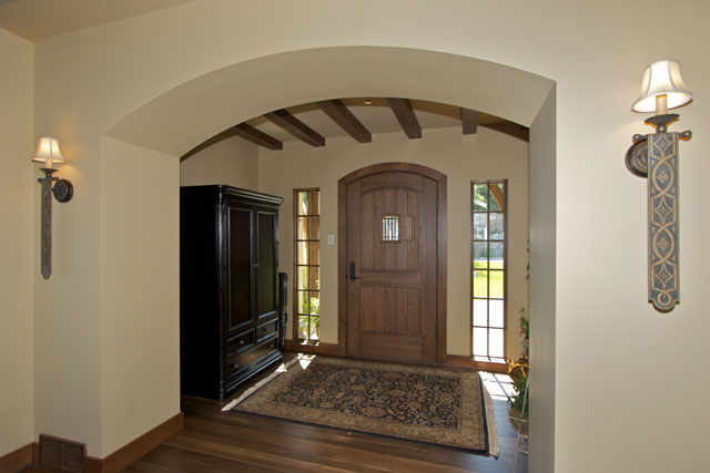 front entry hall - note thick walls